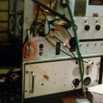 Contest station 23 and 13 cm transverter - 1985